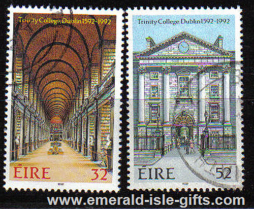 Ireland 1992 Trinity College Dublin 400th Used Set Of 2