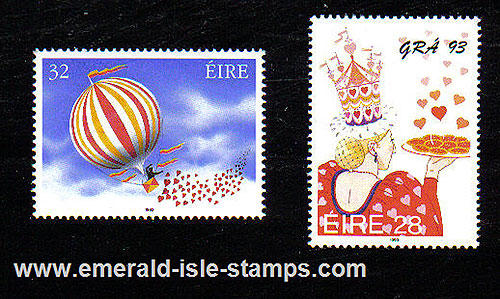 Ireland 1993 Love Stamp Mnh Set Of 2