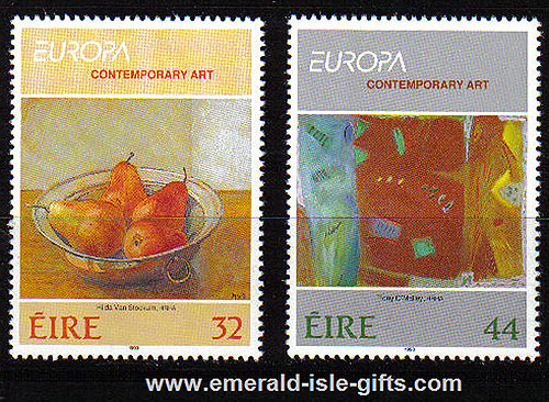 Ireland 1993 Europa: Contemporary Art Mnh Set Of 2