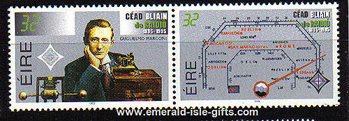 Ireland 1995 Marconi / Centenary Of Radio Mnh Set Of 2