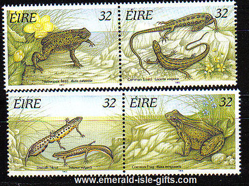 Ireland 1995 Reptiles And Amphibians Set Of 4 Mnh
