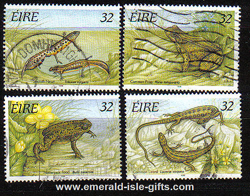 Ireland 1995 Reptiles And Amphibians Used Set Of 4