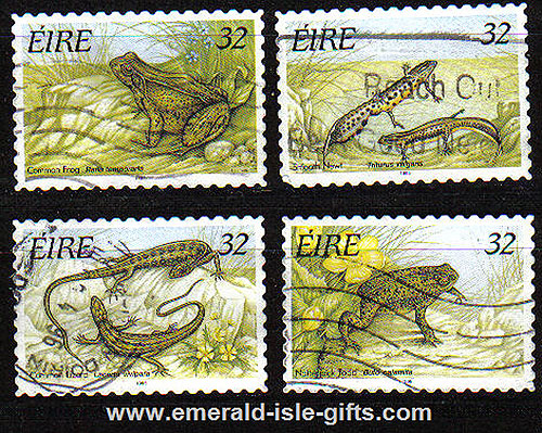 Ireland 1995 Reptiles And Amphibians Self Adh Used Set