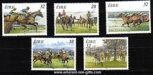 Ireland 1996 Irish Horse Racing Set Of 5 Mnh