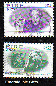 Ireland 1996 Europa: Famous Women Self-adh Used Set 2