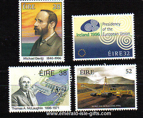 Ireland 1996 Notable Anniversaries Set Of 4 Mnh