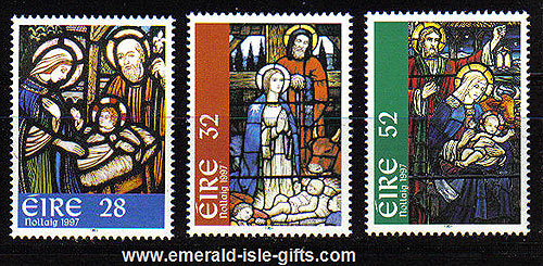 Ireland 1997 Christmas Set Of 3 Mnh