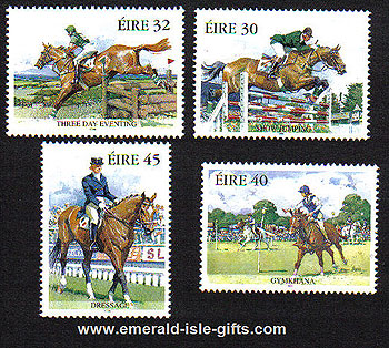 Ireland 1998 Equestrian Sports Set Of 4 Mnh