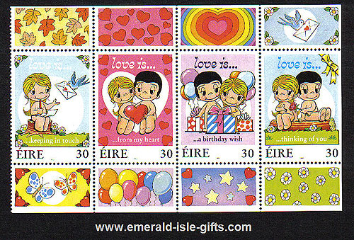 Ireland 1998 Greetings Part 2 Mnh Booklet Pane Of 4