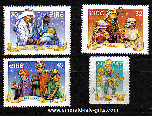 Ireland 1999 Christmas Incl Prom Stamp Set Of 4 Mnh