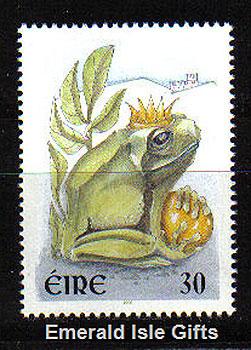 Ireland 2000 Love Stamp Mnh Princess Kissed The Frog