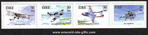 Ireland 2000 Military Aviation Set Of 4 Self Adh Mnh