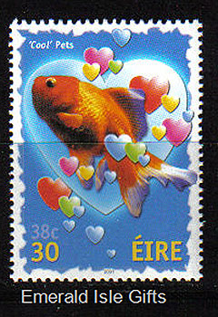 Ireland 2001 Love Stamp Goldfish Mnh