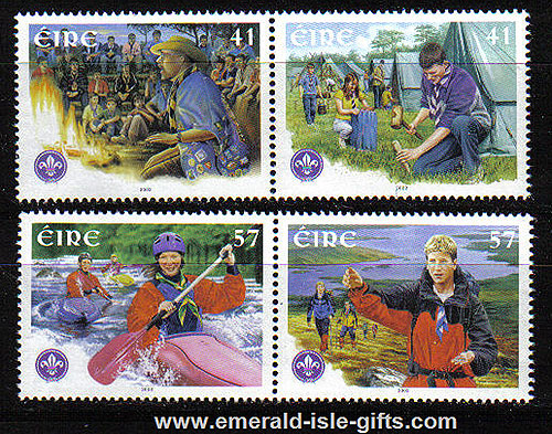 Ireland 2002 Scouting In Ireland Anniv. 75th Set 4 Mnh