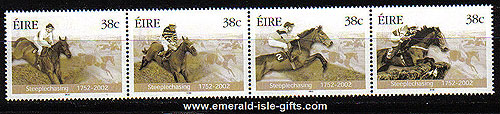 Ireland 2002 Horseracing Steeplechasing Set Of 4 Mnh