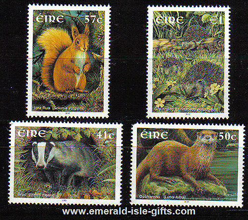 Ireland 2002 Native Irish Mammals Set Of 4 Mnh