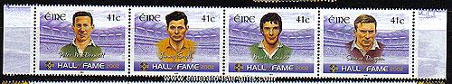 Ireland 2002 Gaa Hall Of Fame Part 2 Set 4 Mnh Se-ten