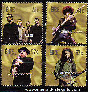 Ireland 2002 Irish Rock Legends U2 Etc Set Of 4 Mnh
