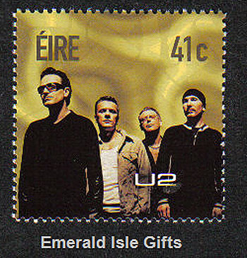 Ireland 2002 U2 Rock Band Commemorative Stamp Mint