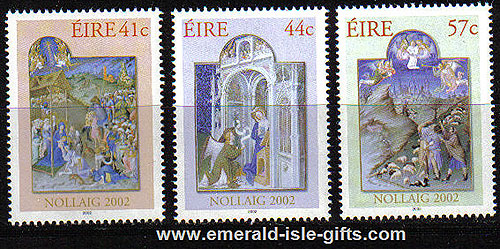 Ireland 2002 Christmas Set Of 3 Mnh