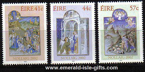 Ireland 2002 Christmas Set Of 3 Mnh