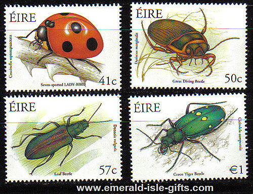 Ireland 2003 Beetles Ladybird Etc Set Of 4 Mnh