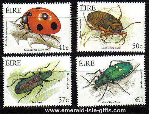 Ireland 2003 Beetles Ladybird Etc Set Of 4 Mnh