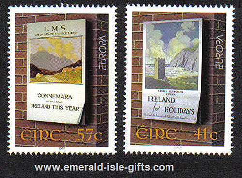 Ireland 2003 Europa: Poster Art Set Of 2 Mnh