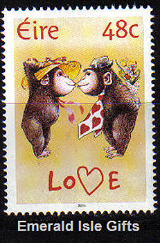 Ireland 2004 Love Stamp Two Monkeys In Love Mnh