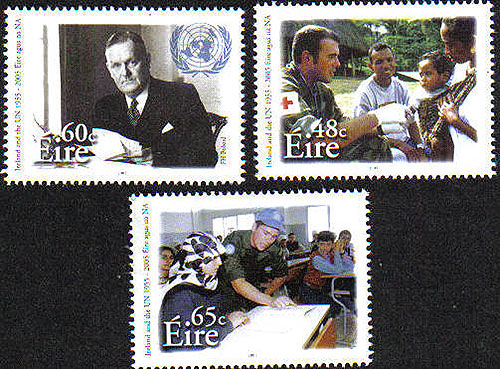 Ireland 2005 Irish United Nations Set Of 4 Mnh
