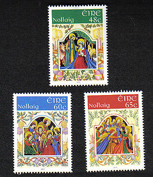 Ireland 2005 Christmas Set Of 3 Mnh Stamps