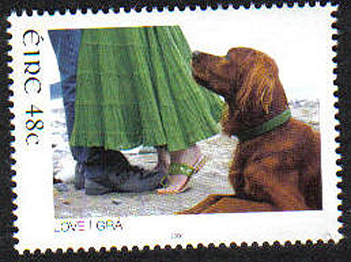Ireland 2006 Love Stamp Red Setter Mnh Stamp