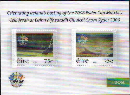 Ireland 2006 Ryder Cup Phase 3 Lenticular Stamps Mnh