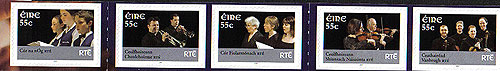 Ireland 2007 Rte Performing Arts Self Adh Set 5 Mint