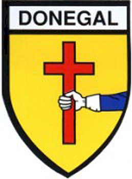 Donegal County Embroidered Badge