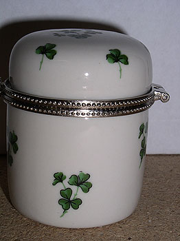 Shamrock Irish Small Cute Trinket Box