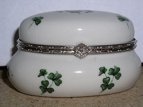 Shamrock Design Small Cute Trinket Box