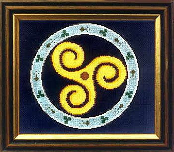 Celtic Triskele Symbol Cross Stitch
