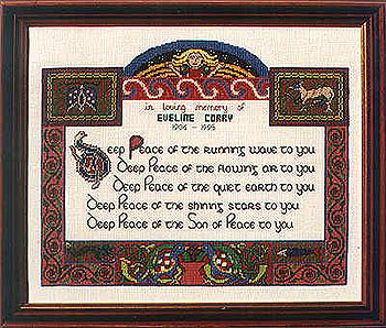 Celtic World Blessing Cross Stitch