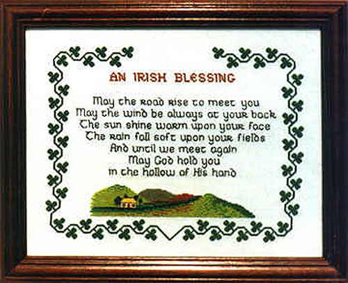 The Irish Collection An Irish Blessing Celtic Cross Stitch