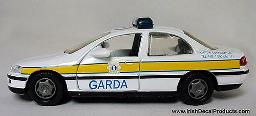 Irish Garda Police Car Die-Cast Model