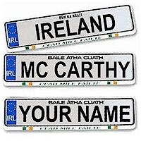 Customized Irish Driving License Plate