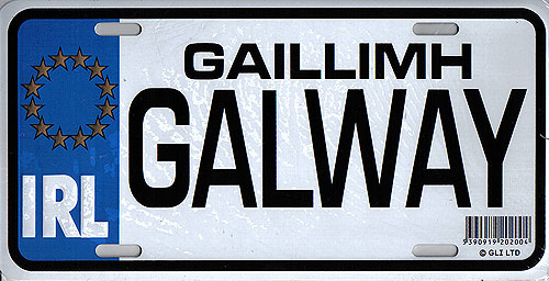Galway Fun Metal Irish License Plate