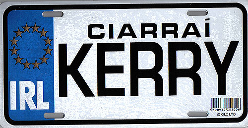 Kerry Fun Metal Irish License Plate