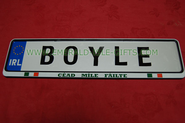 Boyle Family Irish Driving Plate