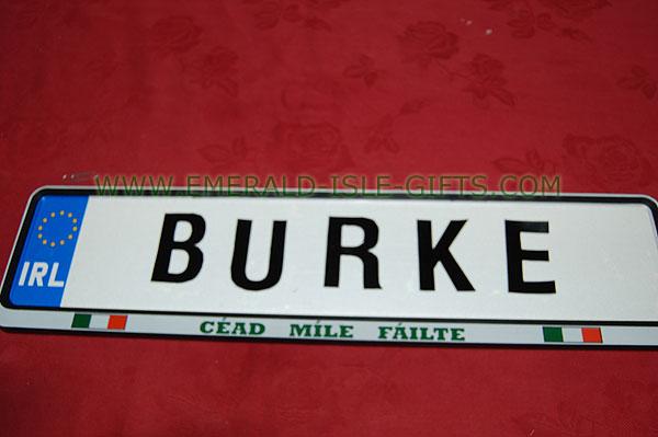 Burke Family Irish Driving Plate (Aerial view)