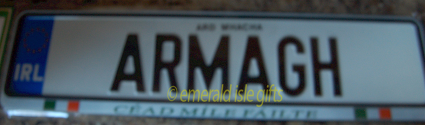 I Love ARMAGH Irish Driving Plate