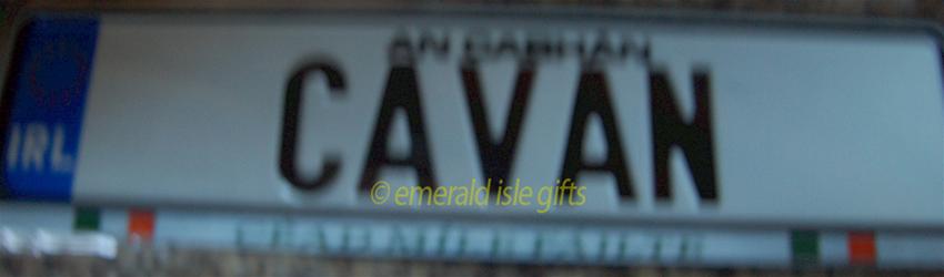 I Love CAVAN Irish Driving Plate (Crafted in Ireland)