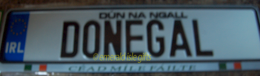 I Love DONEGAL Irish Driving Plate