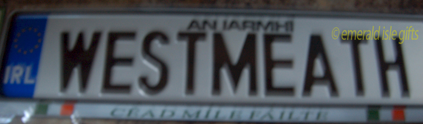 I Love WESTMEATH Irish Driving Plate
